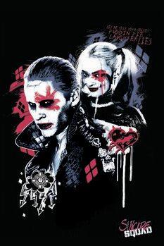 Impressão de arte Esquadrão Suicida - Harley e Joker