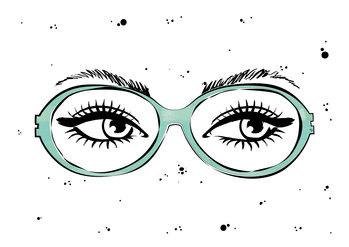 Illustration Eye glasses