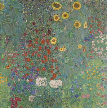 Fine Art Print Farm Garden with Sunflowers, 1905-06