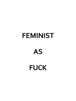 Illustration Feminist as fuck