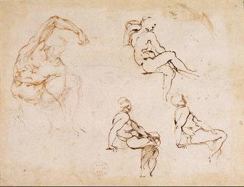 Fine Art Print Figure Studies for a Man,