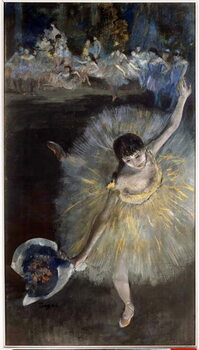 Fine Art Print Fin d'arabesque Painting a essence taken from the pastel by Edgar Degas  1877 Sun. 0,67x0,38 m Paris, musee d'Orsay