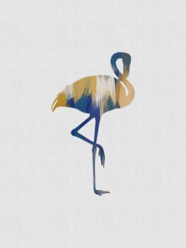 Ilustração Flamingo Blue & Yellow