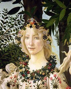 Fine Art Print Flora, detail from the Primavera, c.1478
