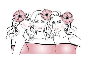 Illustration Flower girls