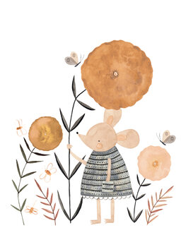 Illustration Flower Mouse