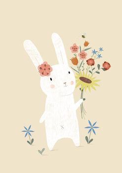 Illustration Flowers - Rabbit