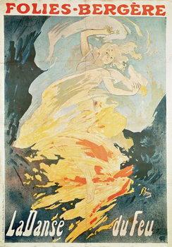 Taidejuliste Folies Bergere: la Danse du Feu, France 1897