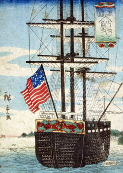 Fine Art Print Foreign ships calling at port, , 1860