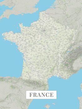 Map France color