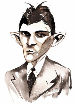 Fine Art Print Franz Kafka  caricature