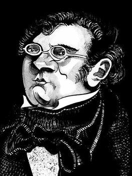 Reprodução do quadro Franz Schubert by Neale Osborne