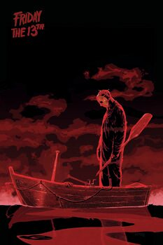 Art Poster Friday the 13th - Boat