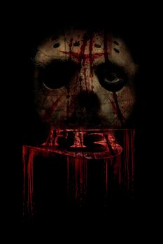 Art Poster Friday the 13th - In the shadow