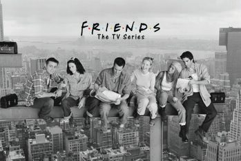 Poster Friends - Lunch on a skyscraper