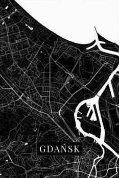 Map Gdansk black