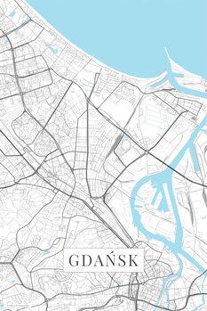 Map Gdansk white
