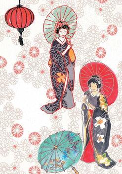 Reprodução do quadro Geisha, 2013