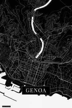 Map Genoa black