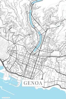 Map Genoa white