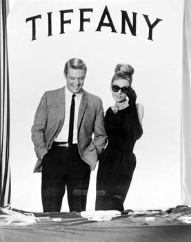 Fine Art Print George Peppard And Audrey Hepburn, Breakfast At Tiffany'S 1961 Directed By Blake Edwards
