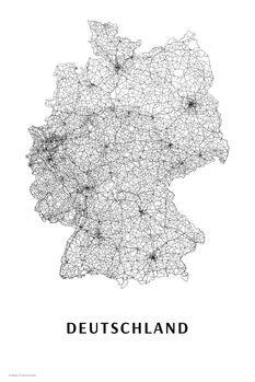 Map Germany black & white