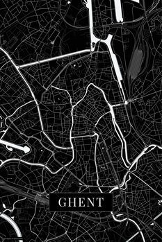 Map Ghent black