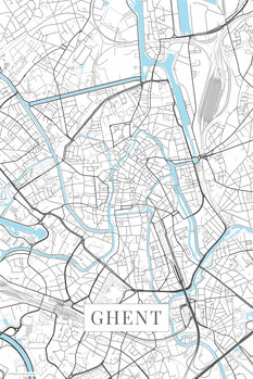 Map Ghent white