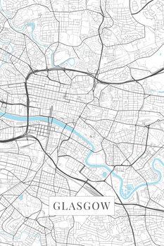 Map Glasgow white