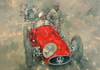 Taidejuliste Goodwood 54 Roy Salvadori