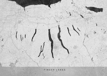Mapa Gray vintage map of Finger Lakes
