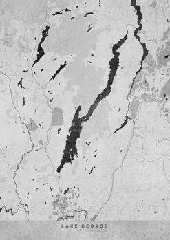 Mapa Gray vintage map of Lake George