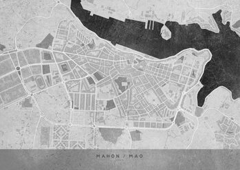 Map Gray vintage map of Mahon