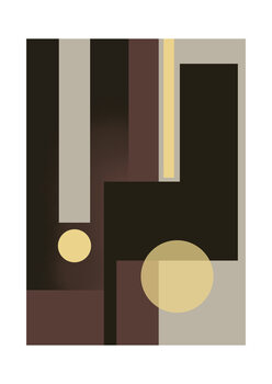Illustration Grey Brown & Yellow