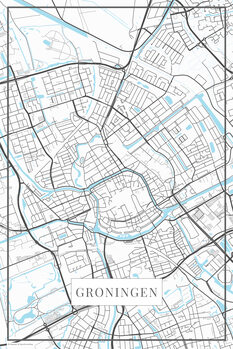 Map Groningen white