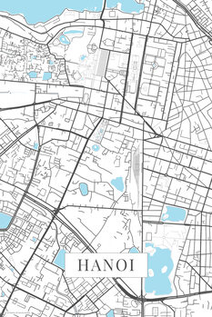 Map Hanoi white
