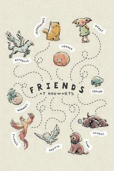 Poster Harry Potter - Amigos em Hogwarts
