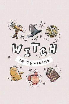 Impressão de arte Harry Potter - Bruxa em treinamento