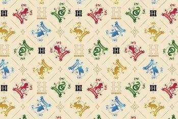 Art Poster Harry Potter - Crests