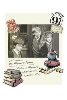 Juliste Harry Potter - Hermione, Harry ja Ron
