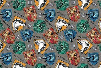 Art Poster Harry Potter - Hogwarts crests