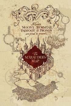 Art Poster Harry Potter - Marauder's Map
