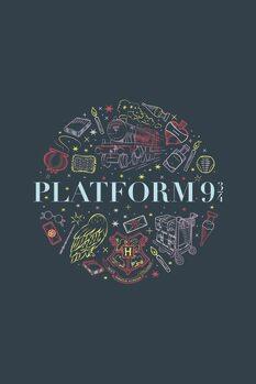 Impressão de arte Harry Potter - Plataforma Nove e Meia