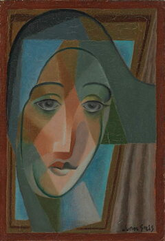 Fine Art Print Head of a Harlequin; Tete d'Arlequin, 1924