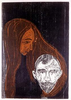 Fine Art Print Head of a man in the hair of a woman
