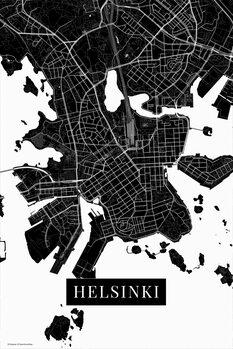 Map Helsinki black