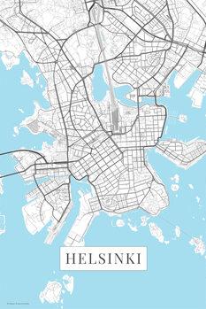 Map Helsinki white