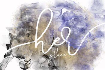 Illustration Her place - alcohol ink rage