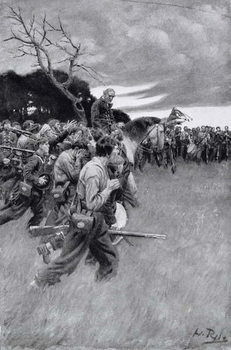 Fine Art Print 'His army broke up and followed him, weeping and sobbing'