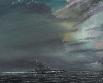 Reprodução do quadro HMS Hood 1941, 2014,